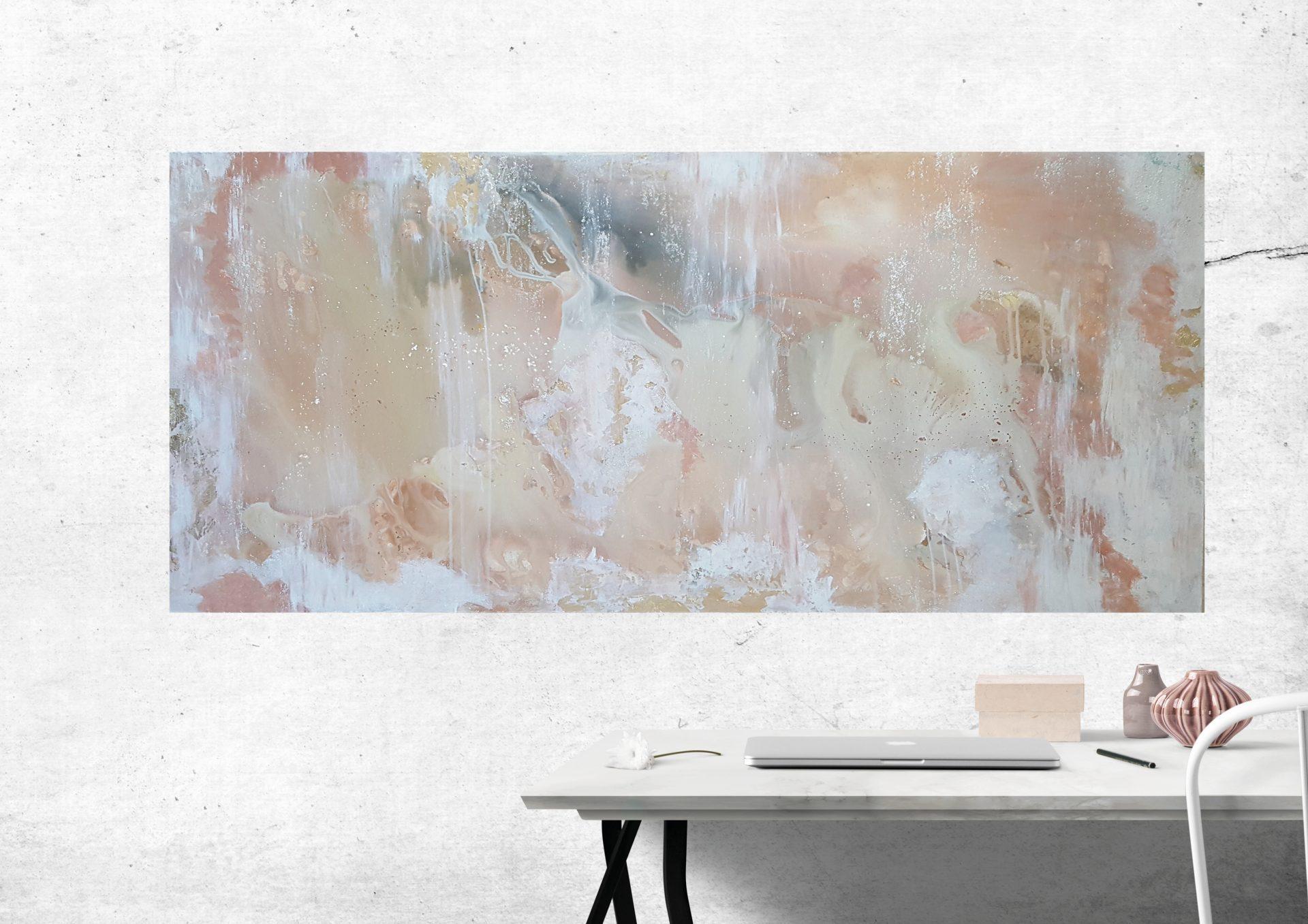 Abstrakt maleri jord farver