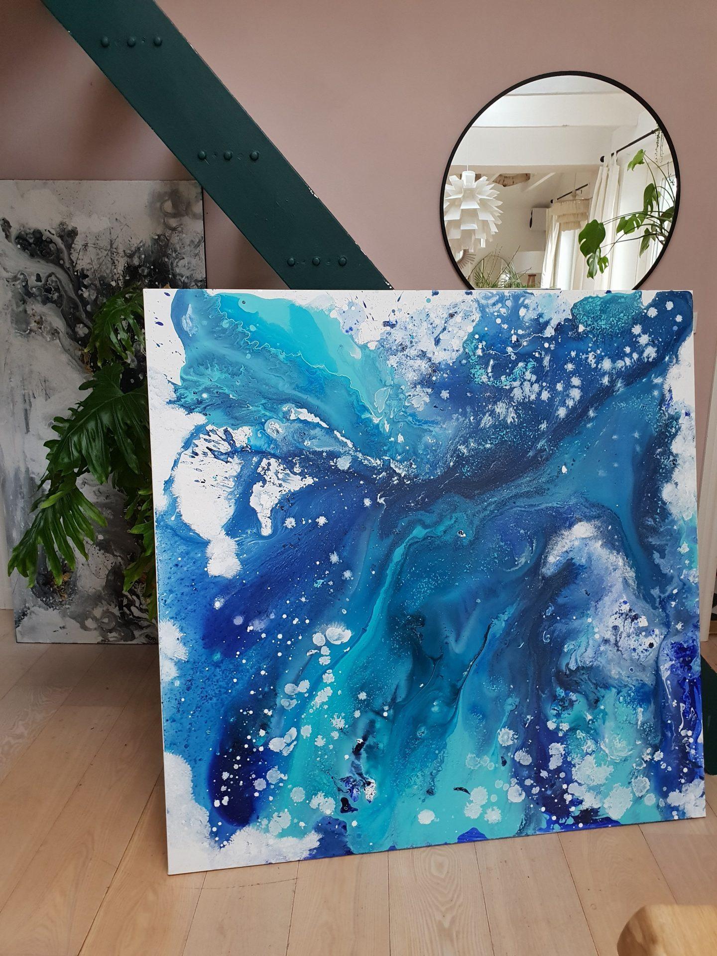 havets blå maleri