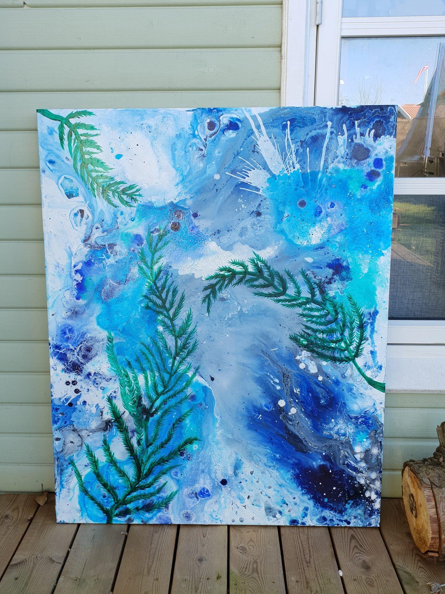abstrakt med blade